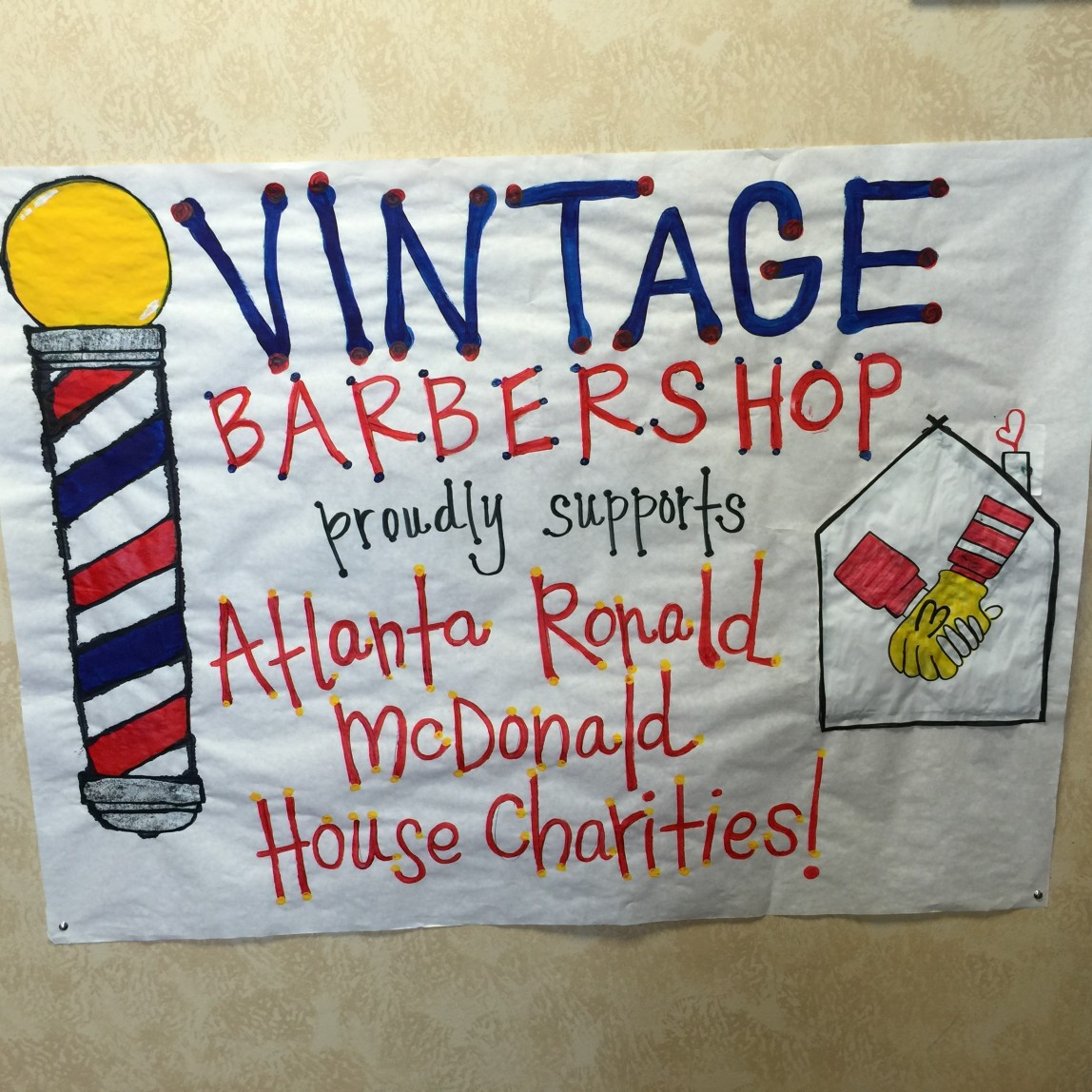 2015 Vintage Barbershop Gives to Atlanta's Ronald McDonald House