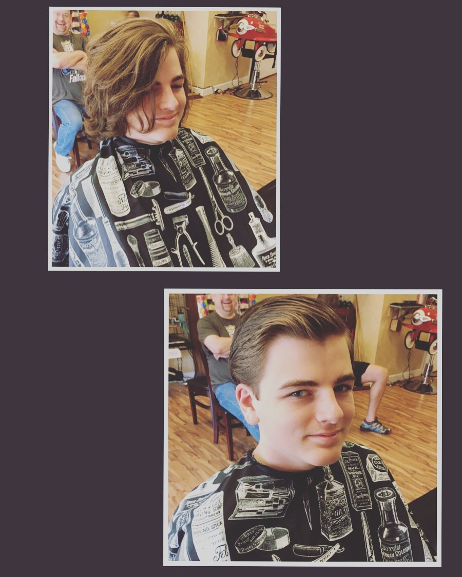 Classic Service with modern style.  Mens haircuts by Vintage Barber Shop of Sandy Springs, GA
